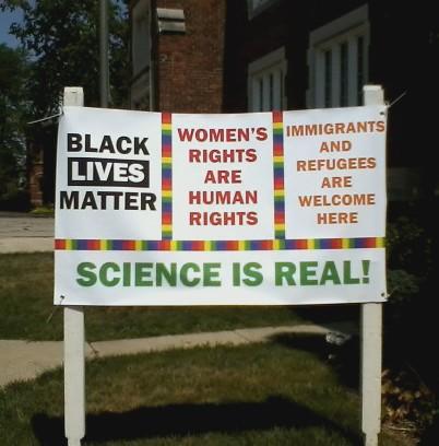 Black lives matter Rights Signage